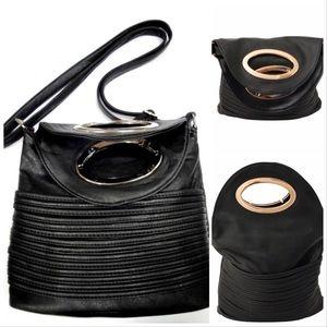 Handbags - HOT🔥🆕BLACK LEATHER BUCKET HANDBAG